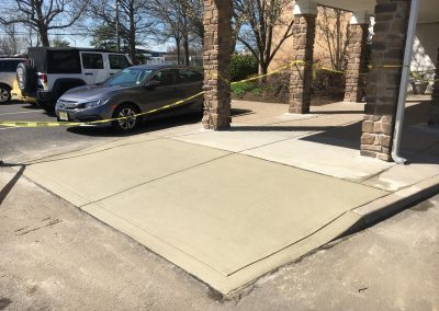 concrete entrance pad