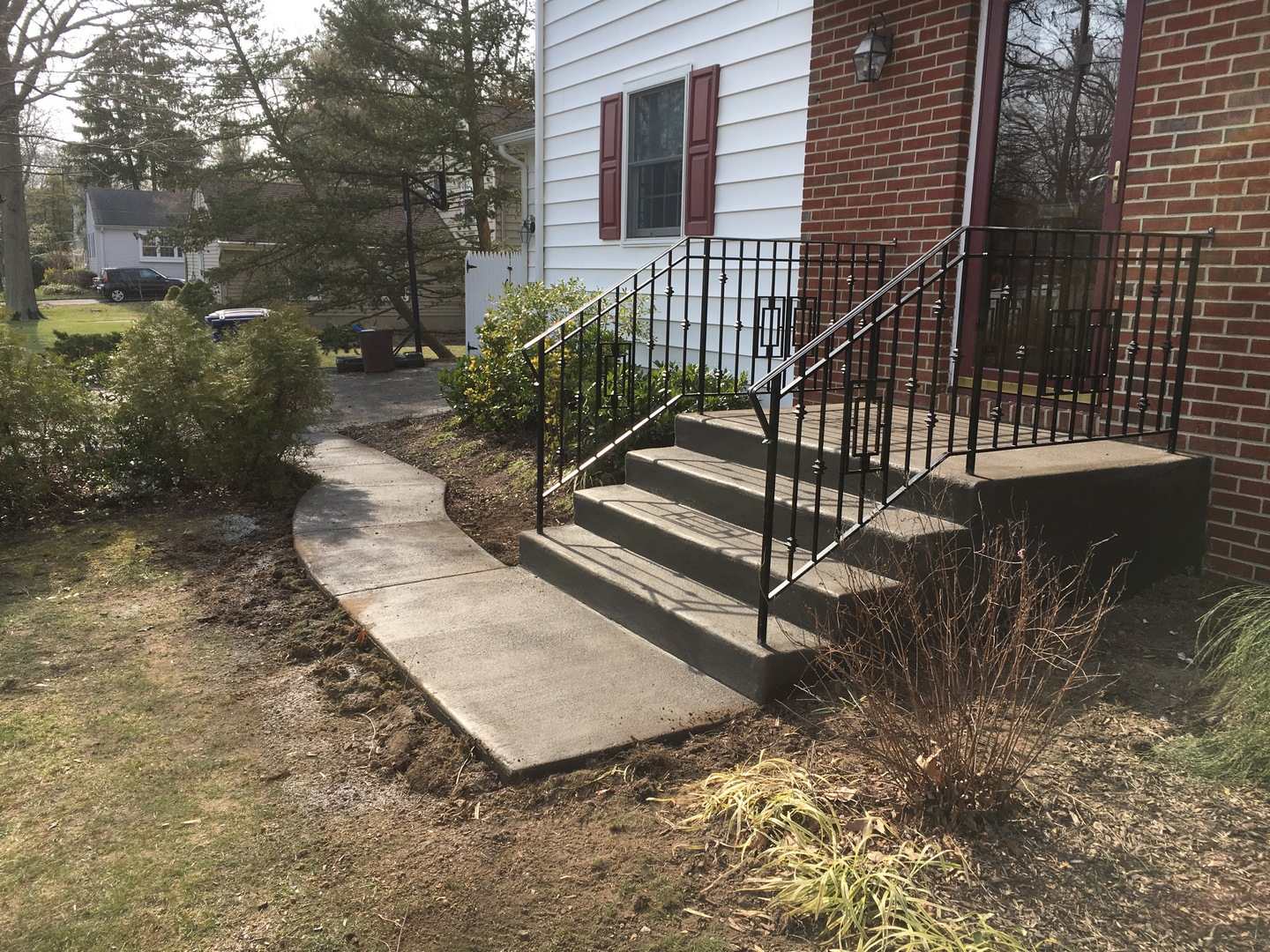 Concrete Walkway and Stairs